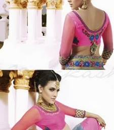 Buy Nakkashi Neon Pink & Grey Saree engagement-gift online
