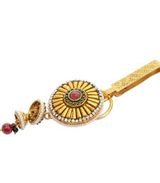 Buy Foppish Mart Gorgeous Golden Studded Desi Saree Challa/ Waist Key Chain/Satka key-chain online