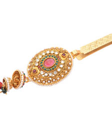 Buy Foppish Mart Beautiful Oval  Stone  Studded Desi Saree Challa/ Waist Key Chain/Satka key-chain online