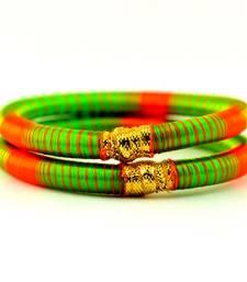 Buy bangle kara hand made rajasthani strechable with free size  bangles-and-bracelet online