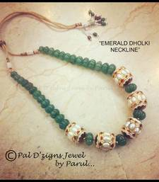 Buy Emerald Dholki Neckline Necklace online