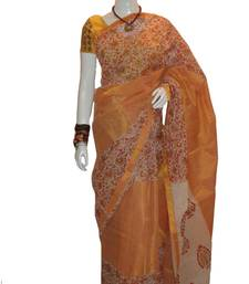 Buy Golden and White Golden printed cotton saree  kota-saree online