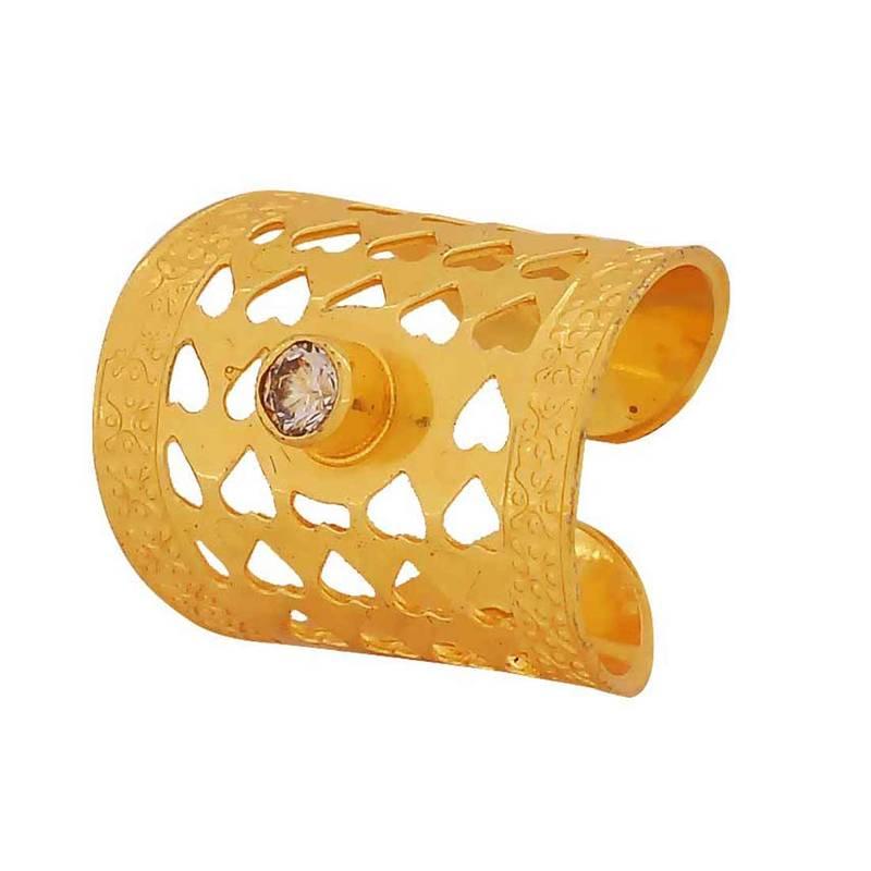 buy simple gold filigree adjustable size reception finger