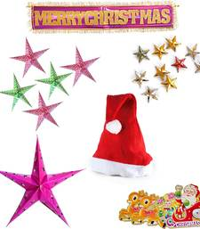 Buy Decorative Big Star n Merry Christmas Hanging Gift 106 christmas-decoration online