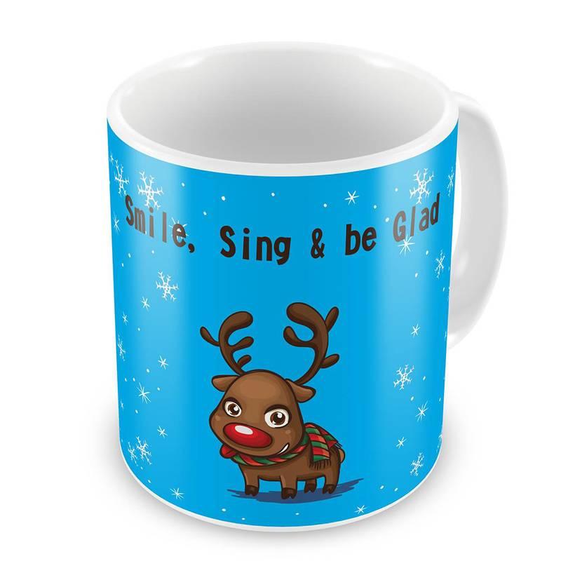 Buy Cute Reindeer Print Delightful Coffee Mugs Pair Online