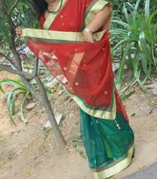 Buy Banarasi Net Bridal Saree net-saree online
