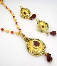 Buy Polki Designer Pendant Set 29 Necklace online