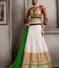 Buy Imperial Off White Embroidered Lehenga Choli punjabi-lehenga online