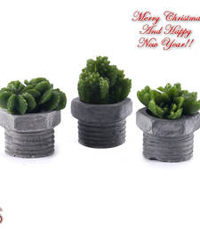 Buy Sweet Little Thorn Plant Shape Decorative Candles with Stand (Set of 3) christmas-decoration online