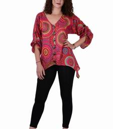 Buy Cotton Printed Pink  Color  Top top online