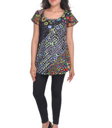Buy Cotton Printed Black Color Top top online