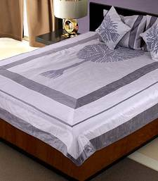Buy 5 Piece Fancy Grey Silk Bedcover Cushion n Pillow Covers Set duvet-cover online