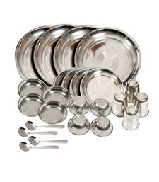 Buy Modern Heavy New Stainless Steel Dinner set of 24 pcs decorative-plate online