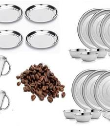Buy Heavy stainless steel 32 Pcs Dinner Set decorative-plate online