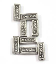 Buy silver rectangle bead Other online