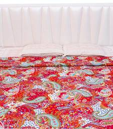 Buy Jaipuri Paisley Pattern Print Double Bed AC Blanket or Quilt - 110 quilt online