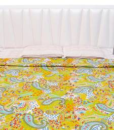 Buy Paisley Pattern Design in Olive Color Base Double Bed AC Blanket or Quilt - 11 quilt online