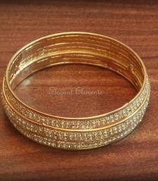 Buy Bollywood style designer zircon stud gold plated bangle kada(1 pc, size 2.2) gifts-for-her online