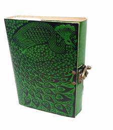 Buy Color Peacock embrossed Leather Diary office-opening-gift online
