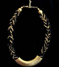 Buy Braided (Black) neckpiece Necklace online