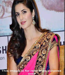 Buy Pink embroidered georgette saree with blouse katrina-kaif-saree online