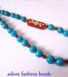 Buy Blue Semi Precious Necklace  Necklace online