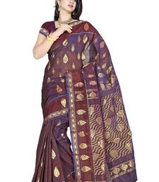 Palatinate purple Designer Zari Saree PS337 shop online