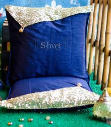 Buy Blue and Gold Sequins pillow-cover online