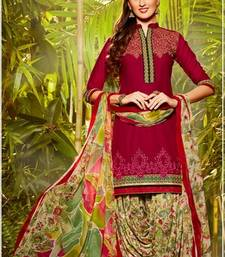 Buy Rani Embroidery and Zari Lace patiyala and dupatta men-shoe online