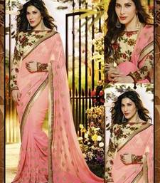 Buy Gajari embroidered georgette saree wtih blouse other-actress-saree online