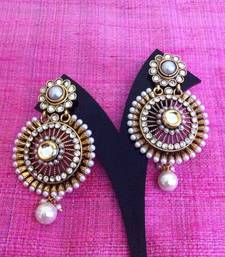 Buy Pearl polki kundan chakra design earring c88w gifts-for-her online