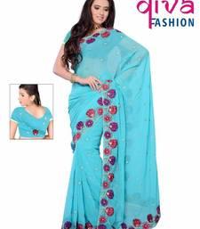 Buy Adorable Designer Party wear saree by DIVA FASHION - Surat georgette-saree online
