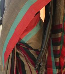 Buy Earthy with terracotta  art-silk-saree online