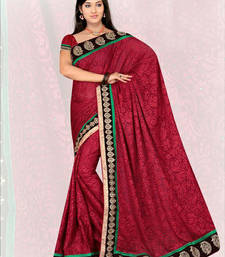 Buy Maroon embroidered georgette saree with blouse brasso-saree online
