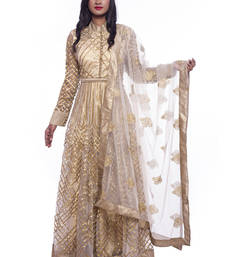 Buy Golden anarkali set readymade-suit online