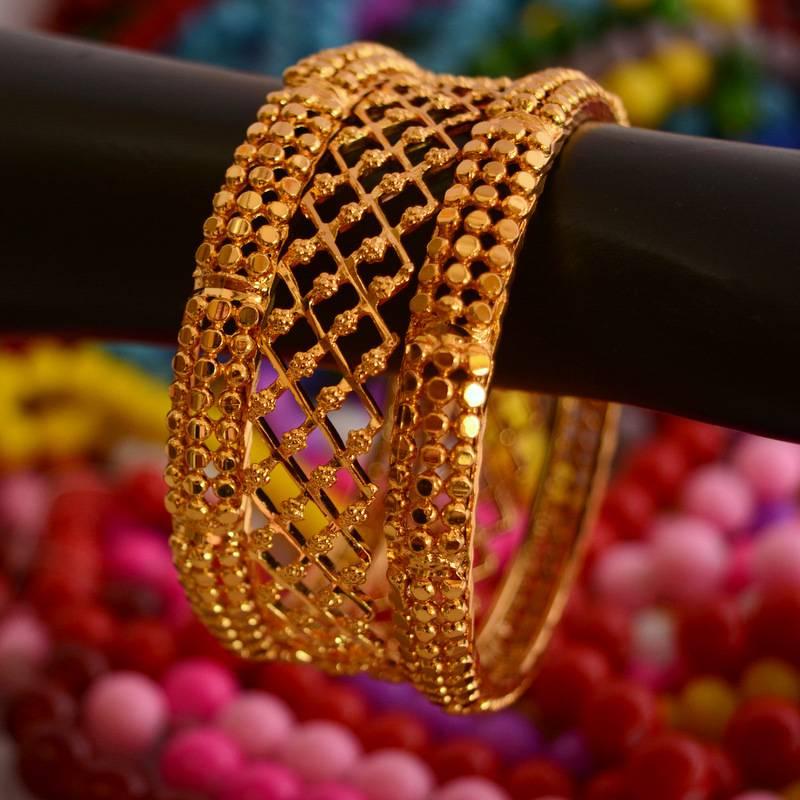Buy Golden Bangles SetPunjabi Jewellery Online