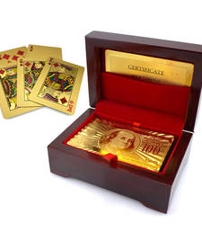 Buy Playing Cards with 24KT Gold Foil new-year-gift online