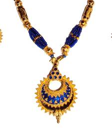 Buy Indian Assamese Jewellery Keru Blue necklace-set online