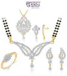 Buy Sukkhi Glorious Gold & Rhodium Plated CZ jewellery-combo jewellery-box online