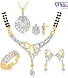 Buy Sukkhi Finely Crafted Gold & Rhodium Plated CZ jewellery-combo jewellery-box online