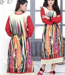 Buy New Latest Designer multicolor Straight Cut  Kurti kurtas-and-kurti online