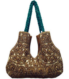 Buy Valvet with Lace work handbag online
