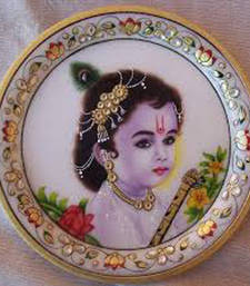 Buy Marble Goddes plate decorative-plate online