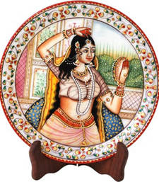 Buy Marble figure plate decorative-plate online
