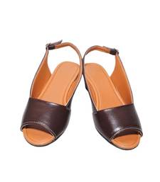 Brown richiee  wedges ballerina shoes shop online