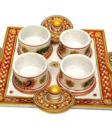 Buy Marble Tray Set with 4 Dibbi tray online