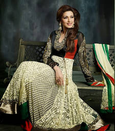 Buy Sonali Bendre In Cream Anarkali  anarkali-salwar-kameez online