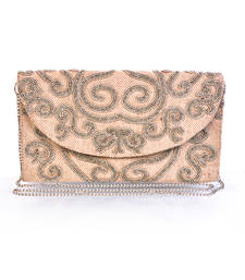Buy Off White Canvas Cloth Clutch clutch online
