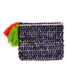 Buy Navy Blue Canvas Cloth Pouch wallet online