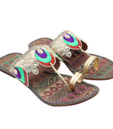 Buy Multicolor paisley designed slipper for women footwear online